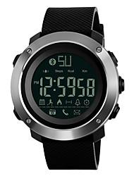 Недорогие -SKMEI Муж. Спортивные часы Японский Bluetooth / Секундомер / Защита от влаги PU Группа На каждый день / Мода Черный / Зеленый / Серый / Нержавеющая сталь / Пульт управления / Хронометр