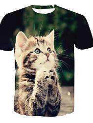 cheap -Men's T-shirt - Animal Round Neck / Short Sleeve