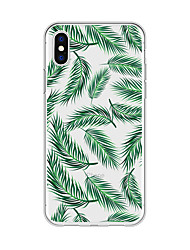 economico -Custodia Per Apple iPhone X iPhone 8 Plus Fantasia / disegno Per retro Piante Cartoni animati Morbido TPU per iPhone X iPhone 8 Plus