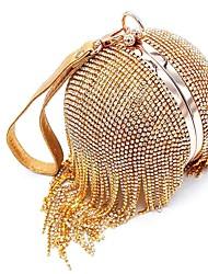 baratos -Mulheres Bolsas PU Bolsa de Ombro Ziper para Casual Dourado / Prata