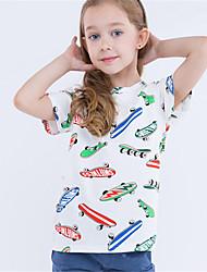 povoljno -Djevojčice Color block Kratkih rukava Majica s kratkim rukavima