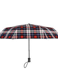 Недорогие -Ткань Муж. Солнечный и дождливой / Ветроустойчивый / новый Складные зонты