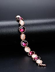 abordables -Femme Cristal Chaînes & Bracelets - Fleur Classique, Rétro, Elégant Bracelet Arc-en-ciel Pour Mariage Soirée
