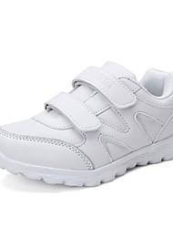 baratos -Para Meninos sapatos Couro Ecológico Tule Verão Conforto Tênis Corrida Velcro para Casual Ao ar livre Branco
