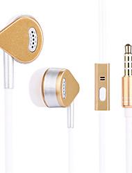 baratos -Ojade em fones de ouvido com fio de ouvido liga de alumínio fone de ouvido do telefone móvel com controle de volume com microfone de isolamento de ruído fone de ouvido