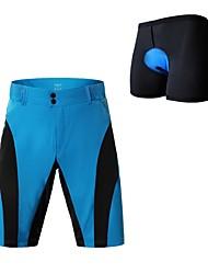 abordables -WOSAWE Hombre Pantalones Acolchados de Ciclismo Bicicleta Pantalones Cortos Acolchados / Pantalones cortos para MTB / Prendas de abajo Secado rápido, Bandas Reflectantes Retazos, Clásico Negro / azul