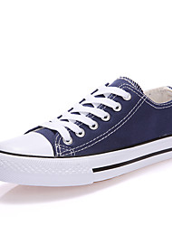 cheap -Men's Canvas Spring / Fall Comfort Sneakers Black / Light Red / Blue