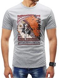 preiswerte -Herrn Porträt-Grundlegend T-shirt Druck