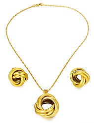 cheap -Women's Jewelry Set 1 Necklace / Earrings / 1PC Pendant - Statement / Fashion Circle Gold Jewelry Set For Wedding / Party