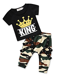 cheap -Kids Toddler Boys' Print Short Sleeves Clothing Set