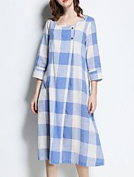 cheap -Women's Swing Dress - Solid Colored Low Waist