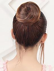 abordables -Marrón Medio Rubio fresa castaño medio Castaño rojizo oscuro Blonde Flores Moño sexy lady Correa Pelo sintético Pedazo de cabello La