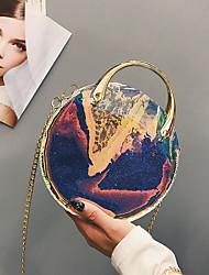 baratos -Mulheres Bolsas PVC / PU Conjuntos de saco 2 Pcs Purse Set Botões Azul / Preto / Rosa