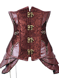 cheap -Steampunk Costume Corset Red Vintage Cosplay Polyster Sleeveless
