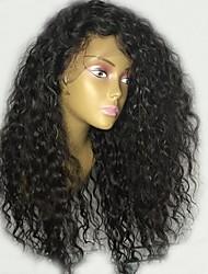 cheap -Remy Human Hair Wig Brazilian Hair Wavy Layered Haircut 130% Density With Baby Hair For Black Women Black Short Long Mid Length Women's