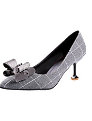 preiswerte -Damen Schuhe Kunstleder Frühling Sommer Pumps High Heels Kitten Heel-Absatz Offene Spitze Spitze Zehe Schleife für Normal Party &