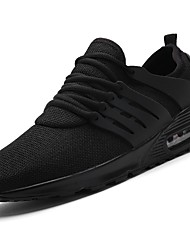 baratos -Homens sapatos Tricô Courino Tule Primavera Outono Conforto Tênis Caminhada Corrida para Atlético Casual Branco Preto Cinzento Claro