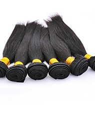 cheap -6 Bundles Peruvian Hair Straight Virgin Human Hair Headpiece / Natural Color Hair Weaves / Hair Bulk / Tea Party Favors Natural Color Human Hair Weaves Waterfall / Silky / Hot Sale Human Hair