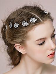 cheap -Rhinestone Hair Pin with Rhinestone 5 Pieces Wedding Party / Evening Headpiece