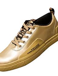 お買い得  -男性用 靴 PUレザー 春 秋 コンフォートシューズ スニーカー のために カジュアル ゴールド ブラック シルバー