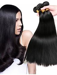 cheap -Peruvian Hair Straight Natural Color Hair Weaves / Human Hair Extensions Human Hair Weaves Extention / Hot Sale Natural Black All