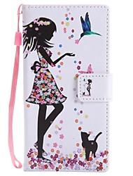 Недорогие -Кейс для Назначение Sony Xperia XZ1 Compact Xperia XZ1 Бумажник для карт Кошелек со стендом Флип Магнитный Чехол Кот Соблазнительная