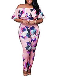 baratos -Mulheres Vintage Moda de Rua Maiô Floral