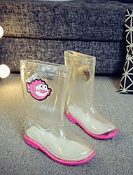 cheap -Boys' / Girls' Shoes PVC Leather Fall / Winter Rain Boots Boots for Pink / Light Blue