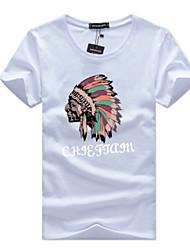 baratos -Homens Camiseta Activo Básico Retrato Letra
