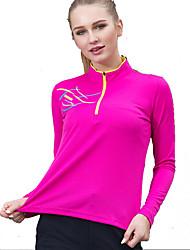 preiswerte -Damen T-Shirt für Wanderer Außen Schnelles Trocknung Rasche Trocknung Schweißableitend Atmungsaktivität T-shirt Einfacher Schieber