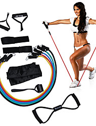 cheap -KYLINSPORT Resistance Band Set With Carrying Case / Ankle Strap / Door Anchor 12 pcs Rubber Strength Training, Physical Therapy For Yoga / Pilates / Exercise & Fitness Unisex Home / Office