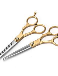 abordables -Accessoires pour Cheveux Acier inoxydable Kits d'accessoires Ciseaux Etui / Housse / Homme / Meilleure qualité 1pcs Quotidien nouveau Doré