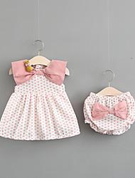 cheap -Baby Girls' Polka Dot Sleeveless Cotton Clothing Set
