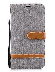 Недорогие -Кейс для Назначение Huawei P20 lite P20 Бумажник для карт Кошелек со стендом Флип Чехол Однотонный Твердый Кожа PU для Huawei P20 lite