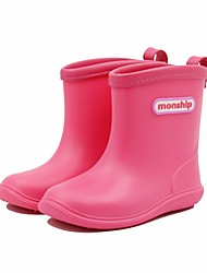 cheap -Boys' / Girls' Shoes PVC Leather Fall / Winter Rain Boots Boots for Yellow / Pink / Light Blue