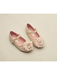 cheap -Girls' Shoes Lace Spring & Summer Flower Girl Shoes Flats for White / Pink