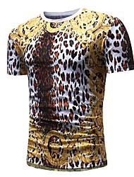 preiswerte -Herrn Punkt Leopard Tier - Grundlegend Punk & Gothic T-shirt