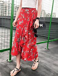 preiswerte -Damen Street Schick A-Linie Röcke - Blumen