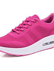 povoljno -Žene Cipele Pletivo Ljeto Cipele za novorođenčad Sneakers Wedge Heel Okrugli Toe za Atletski Crn / Crvena / Fuksija