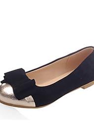 Недорогие -Жен. Обувь Дерматин Весна / Лето Удобная обувь На плокой подошве На плоской подошве Круглый носок Бант Черный / Синий / Розовый