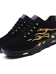お買い得  -男性用 靴 レザーレット 春 秋 コンフォートシューズ アスレチック・シューズ バスケットボール のために スポーツ カジュアル 黒とゴールド ブラックとホワイト ブラック / レッド