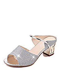 cheap -Women's Shoes PU Spring Summer Comfort Sandals Flat Heel Peep Toe Lace-up for Casual Gold Silver