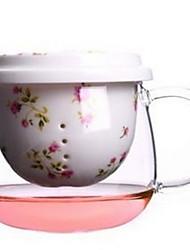 Недорогие -Drinkware Высокое боровое стекло Стекло Кружка Теплоизолированные 1pcs