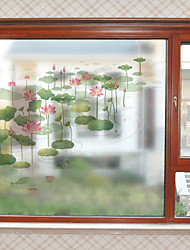 cheap -Window Film & Stickers Decoration Contemporary Flower / Floral PVC Window Sticker Matte