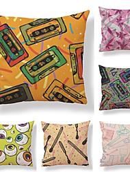 cheap -6 pcs Textile Cotton/Linen Pillow case Normal Pillow Cover, Polka Dot Art Deco Special Design Pattern High Quality