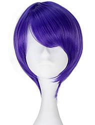 Недорогие -Косплэй парики Токио вурдалак Лиловый Аниме Косплэй парики 14 дюймовый Термостойкое волокно Универсальные Хэллоуин парики