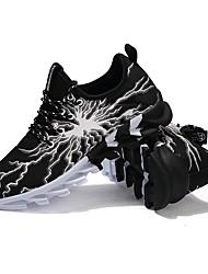 baratos -Homens sapatos spandex Tule Verão Outono Solados com Luzes Conforto Tênis Caminhada Corrida para Atlético Casual Branco Preto Vermelho