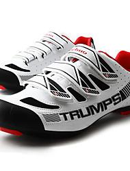 baratos -Tiebao® Tênis para Ciclismo Fibra de Carbono Anti-Escorregar, Vestível, Respirabilidade Ciclismo Preto / Branco Homens