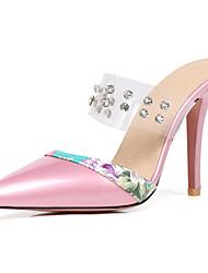 Mujer Zapatos PVC Verano Confort Zapatillas y flip-flops Tacón Plano Rojo / Rosa / Almendra HAVbM9