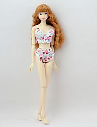 economico -Enti Seperate Pantaloni Top e camicie Per Bambola Barbie Rosa Tessile Raso elasticizzato Top Pantaloni Per Ragazza Bambola giocattolo